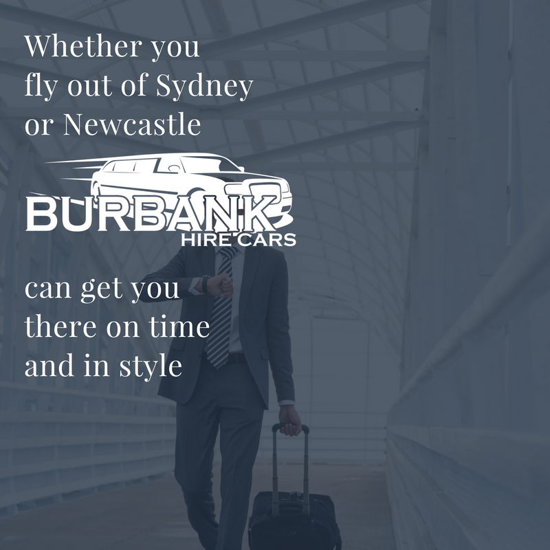 whether you need to fly out from Sydney or Newcastle, we can get you there on time and in style.